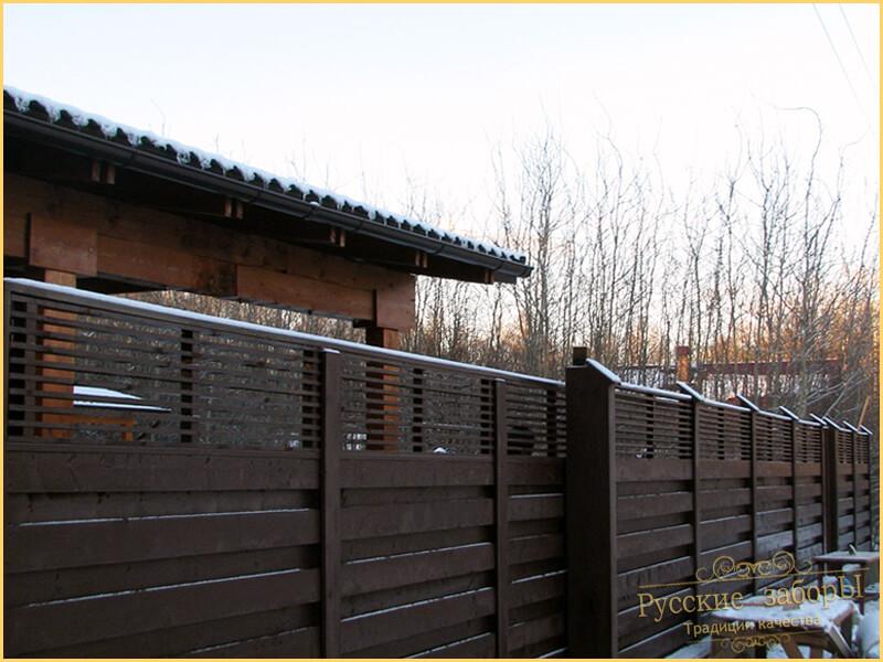 заборы для дачи в Московской области